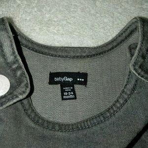 Baby Gap gray denim jumper 18-24 months